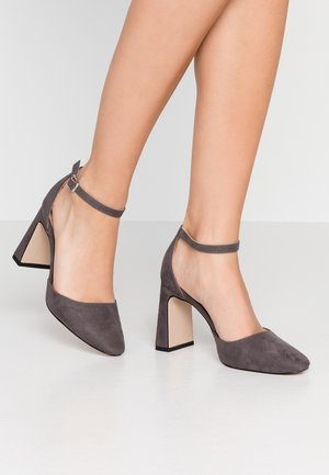 DANDIE FLARED OPEN COURT - High heels - grey