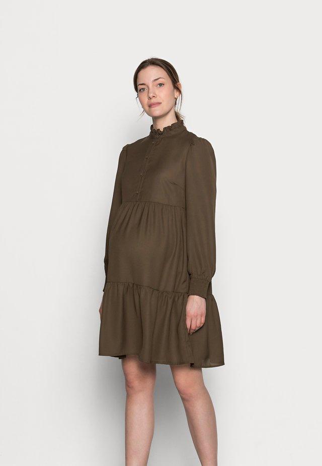 PCMLULLA DRESS - Shirt dress - black olive