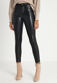 ONLY - ONLCRUSH HIGH WAIST ANKLE PANT  - Trousers - black - 0