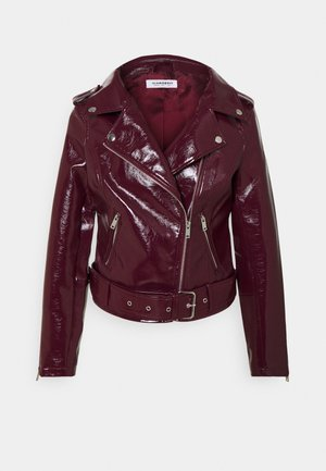 BIKER JACKET - Faux leather jacket - burgundy