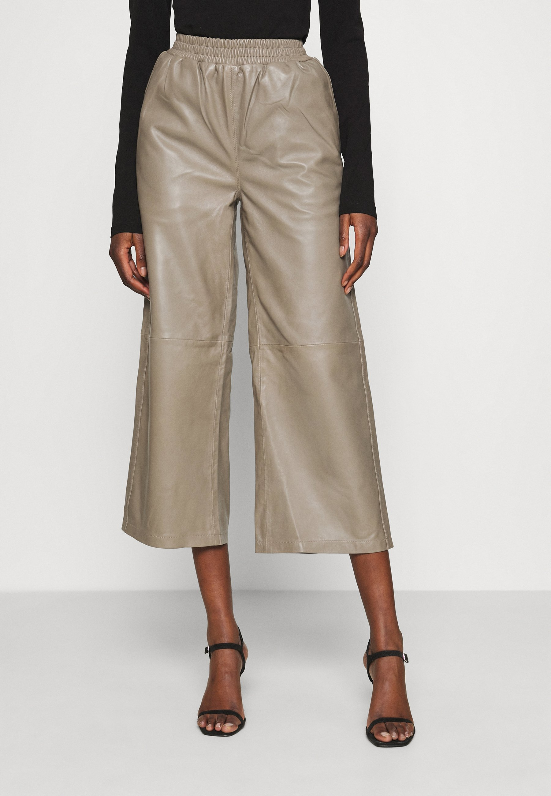 Women ROY TROUSERS - Leather trousers