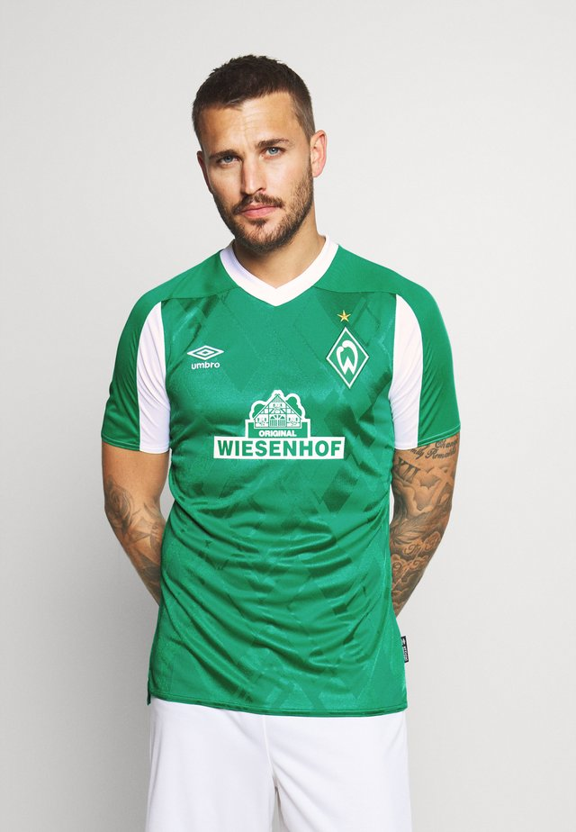 WERDER BREMEN HOME - Klubbklær - golf green/brilliant white