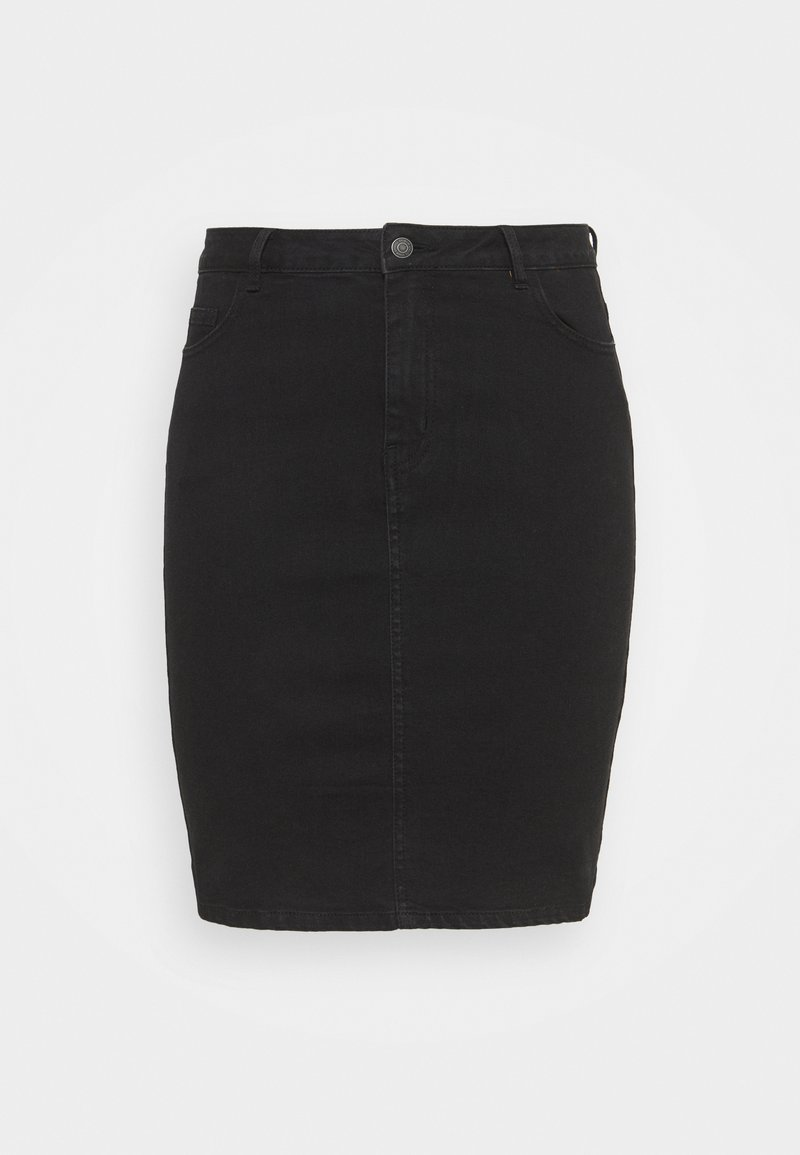 Vero Moda Curve - VMHOT PENCIL SKIRT - Mini skirt - black