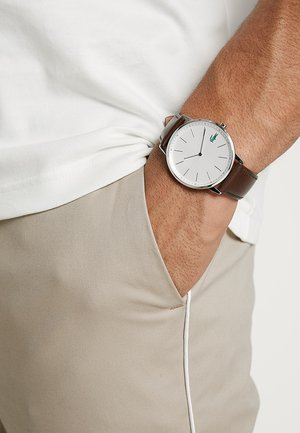 MOON - Orologio - silver-coloured/brown