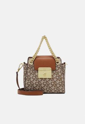SATCHEL MICRO STUDDED - Handbag - chino/caramel