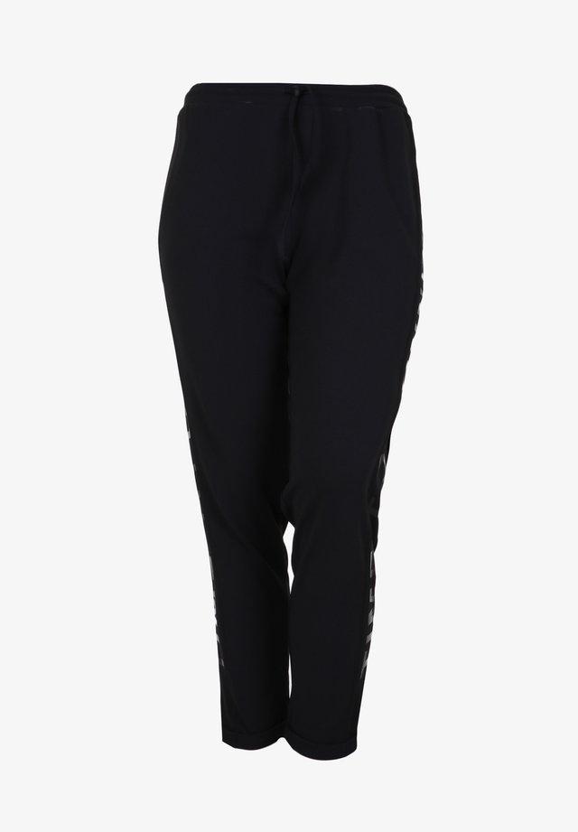 MIT FIXIERTEM UMSCHLAG - Pantaloni sportivi - schwarz