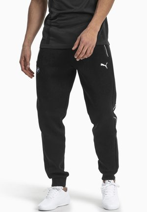 BMW M MOTORSPORT KNITTED MEN'S SWEATPANTS MALE - Tracksuit bottoms - black