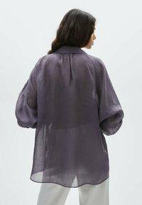 Massimo Dutti - Skjortebluser - dark purple - 2
