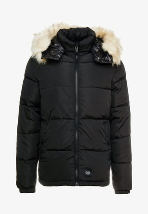 PUFFER JACKET WITH  HOOD - Giacca invernale - blac