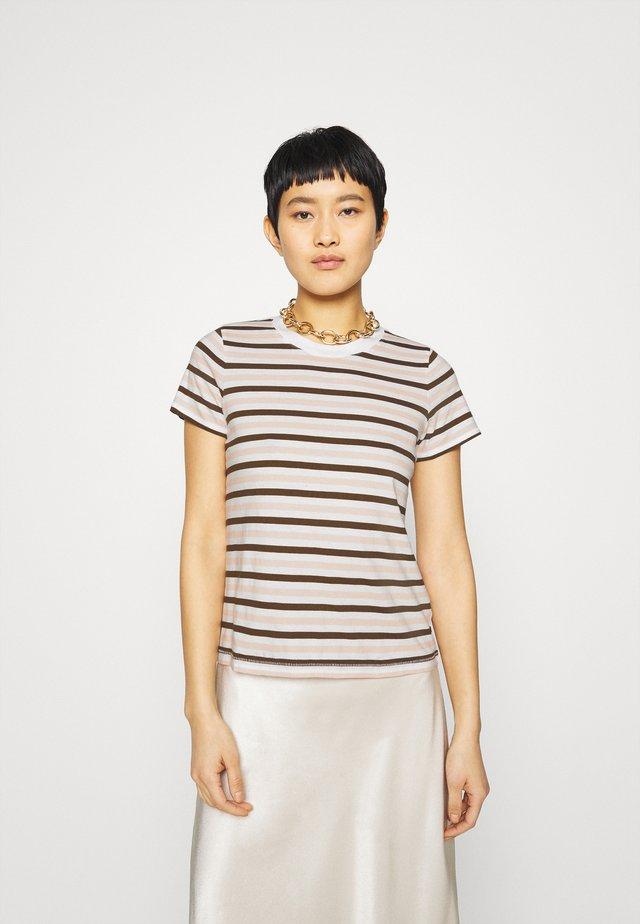 STRIPE - T-shirt con stampa - doberman/peach blush