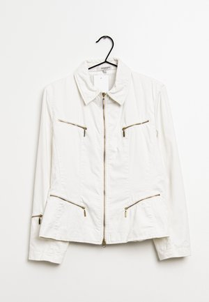 Imitatieleren jas - white