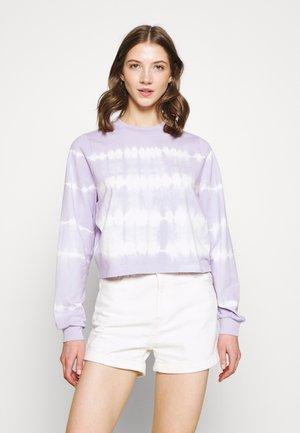 NMJOAN TIE DYE - Sweatshirt - pastel lilac