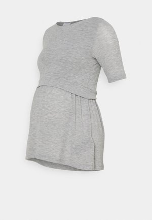 NURSING - T-paita - light grey melange