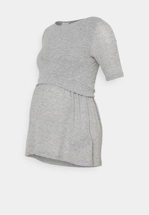 NURSING - Jednoduché triko - light grey melange