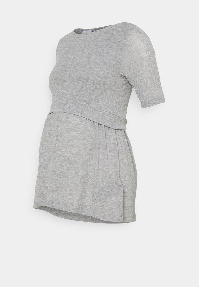 MLANABEL JUNE - Jednoduché triko - light grey melange