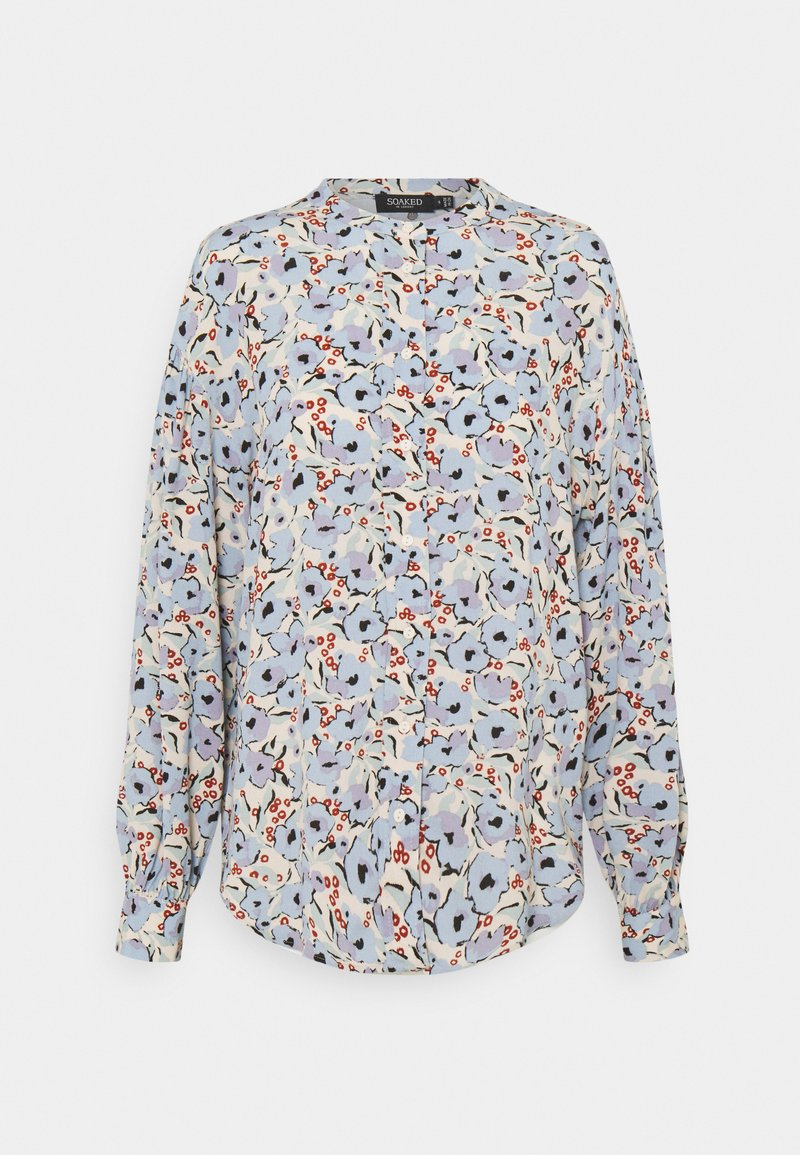 Soaked in Luxury - SLIDE BLOUSE - Button-down blouse - blue