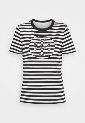 STRIPED LOGO  - T-shirt con stampa - black