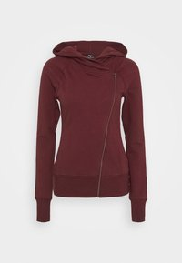 Nike Performance - YOGA FITTED - Hoodie met rits - night maroon/team red - 4