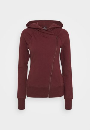 YOGA FITTED - Sudadera con cremallera - night maroon/team red