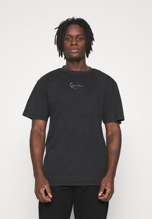 SMALL SIGNATURE WASHED TEE UNISEX  - T-shirt med print - black