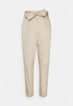PANTS CIGARETTE - Trousers - linen beige