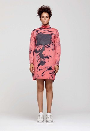 SKULL PRINTED - Day dress - pink