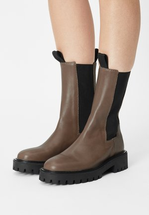 ANGIE CHELSEA - Platform boots - taupe