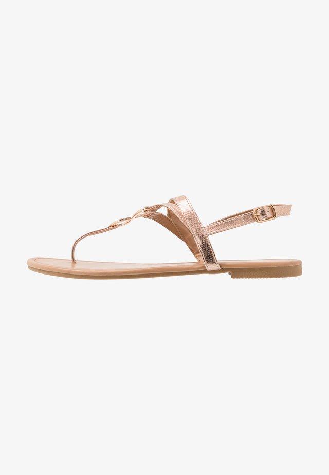 HOOPER - T-bar sandals - rose gold