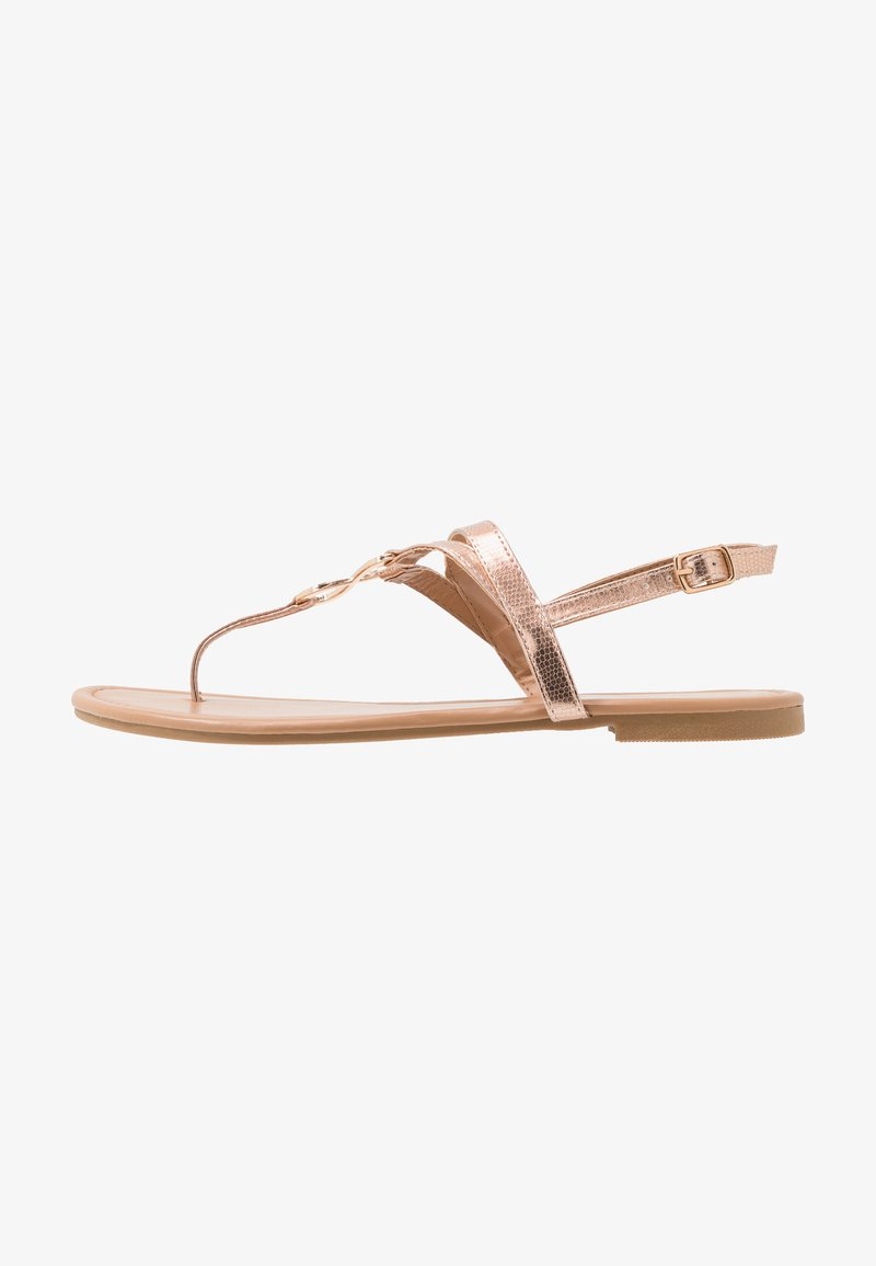 New Look - HOOPER - Flip Flops - rose gold