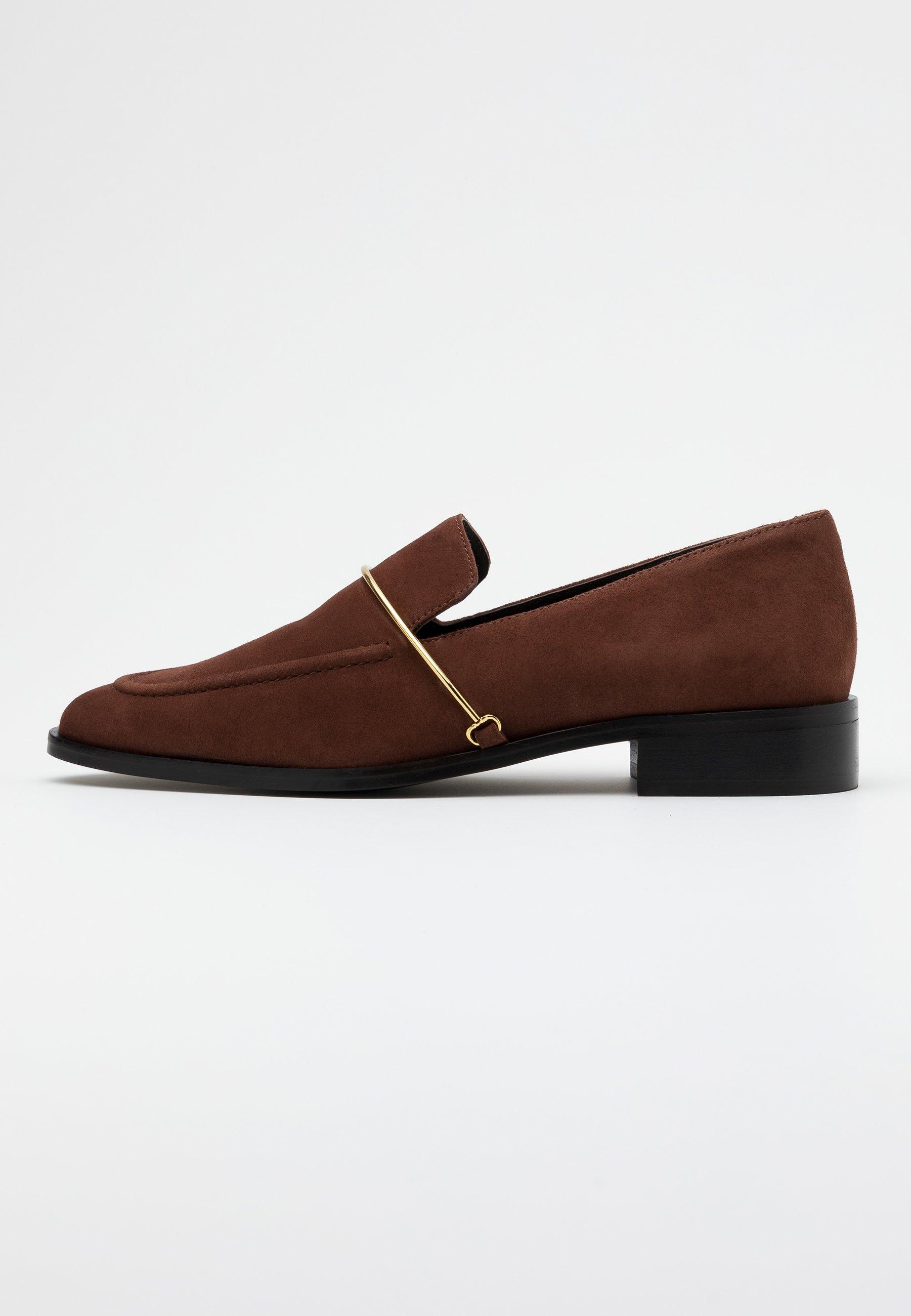 Brown loafers  Unisa  Moccasiner - Sko Til Dame
