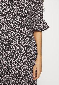 Dorothy Perkins - FRILL WRAP SKIRT MIDI DRESS - Day dress - black - 6