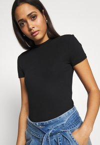 Even&Odd - Basic T-shirt -  black - 4