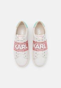 KARL LAGERFELD - KUPSOLE BAND  - Tenisky - offwhite/aqua - 4