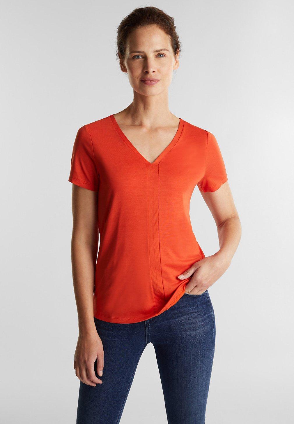 Esprit Collection T-shirt basique - rust orange - Tops & T-shirts Femme A0Og9
