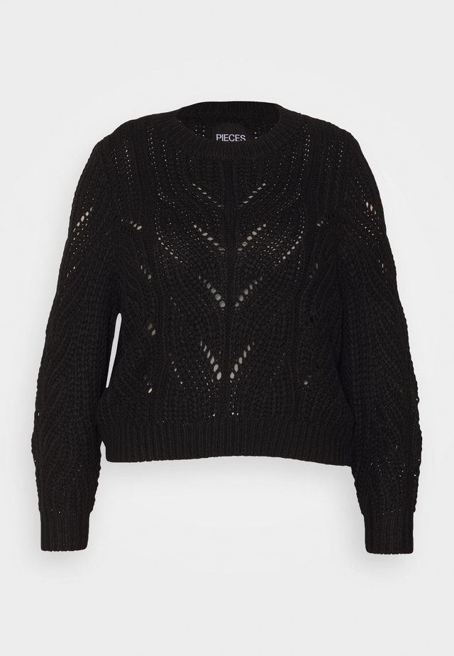 PCRACHEL O NECK - Pullover - black