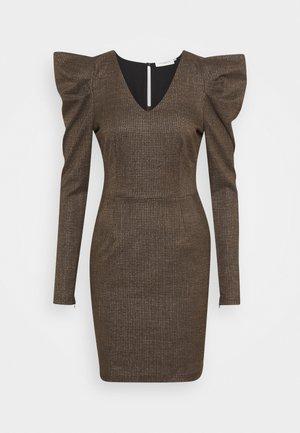 CHECK - Shift dress - major brown