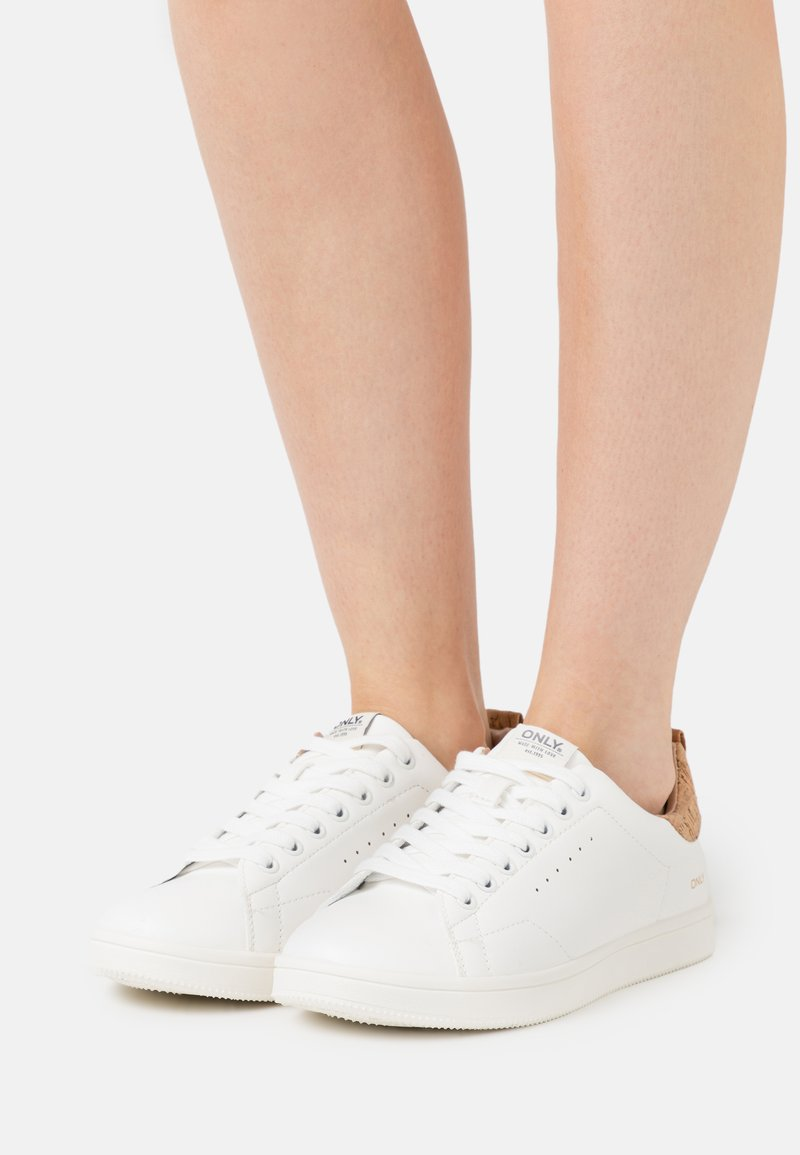 ONLY SHOES - ONLSHILO ANIMAL - Sneakers laag - white