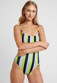 Solid & Striped - THE NINA STRIPE - Swimsuit - lavender/lime/black - 2