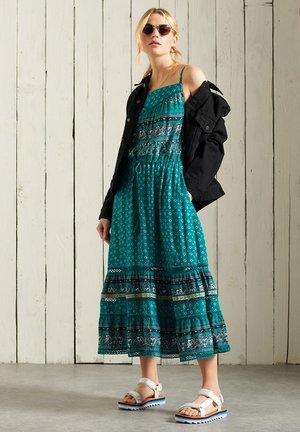 Korte jurk - deep green