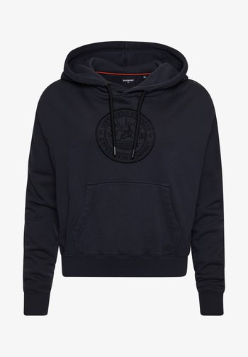 EXPEDITION GRAPHIC CROP - Hoodie - black