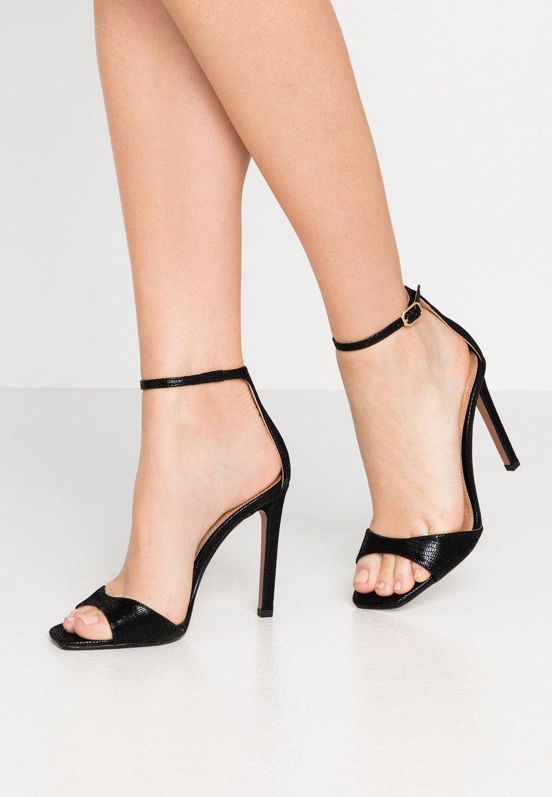 Topshop - SILVY SKINNY PART - Sandály na vysokém podpatku - black