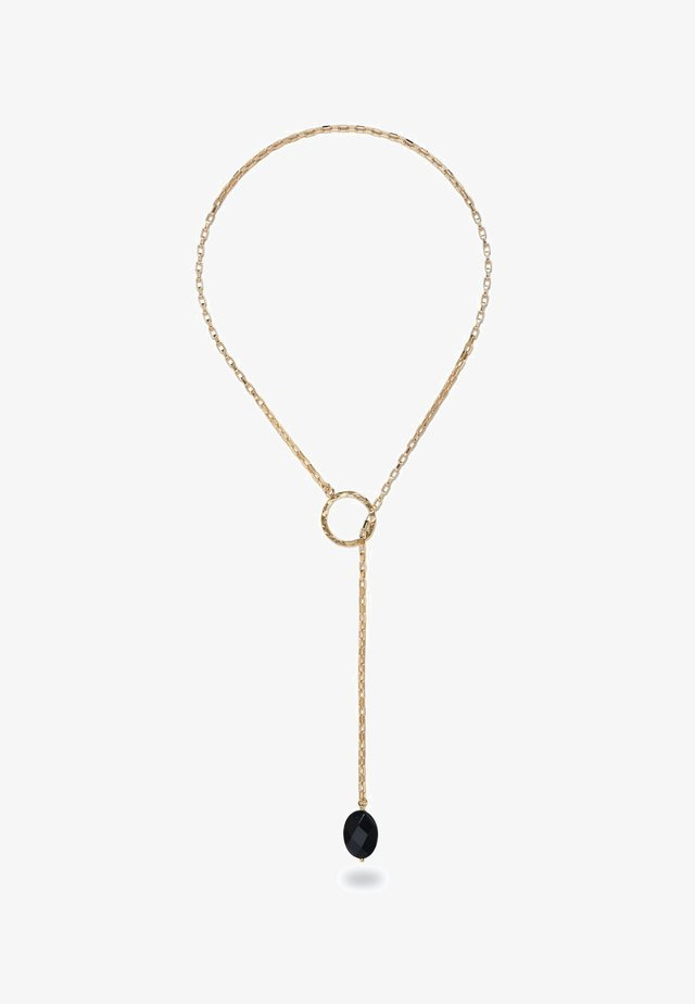 CHARA GOLD LARIAT AND BLACK ONYX  - Collana - gold