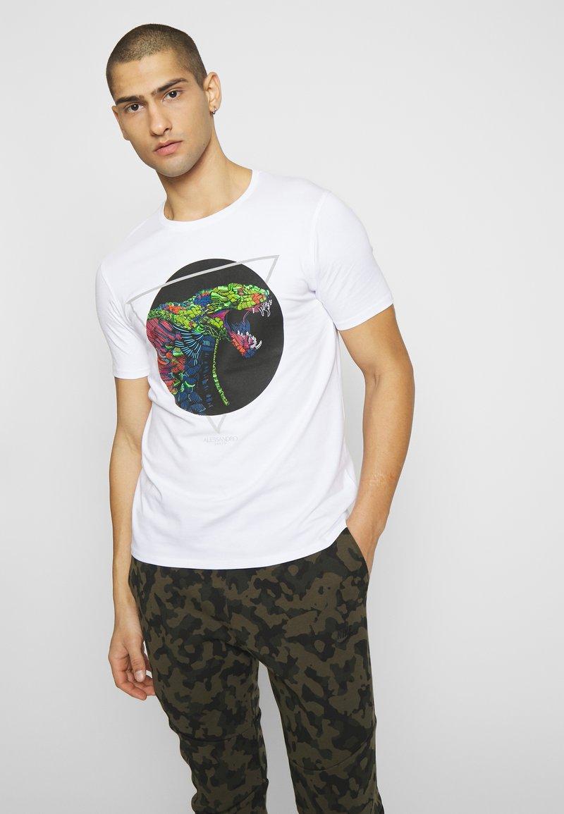 Alessandro Zavetti - ABLETT SNAKE - T-shirt print - white