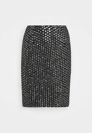LEXI SKIRT - Mini skirt - silver-coloured/black