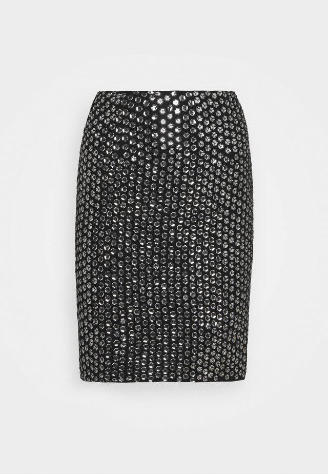 LEXI SKIRT - Miniskjørt - silver-coloured/black