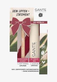 Sante - LIPS SET - Makeup set - 07 fierce red / 04 blooming scarlet - 0