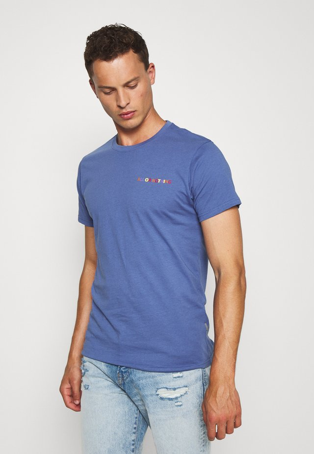 KOLBY - Camiseta estampada - gray blue