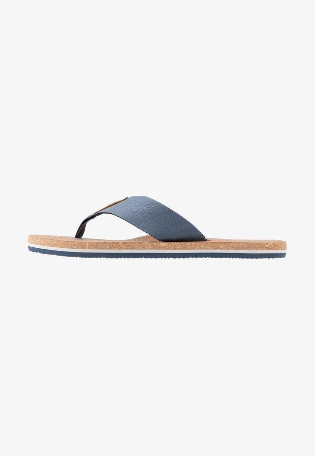 SIGNATURE BEACH - T-bar sandals - grey