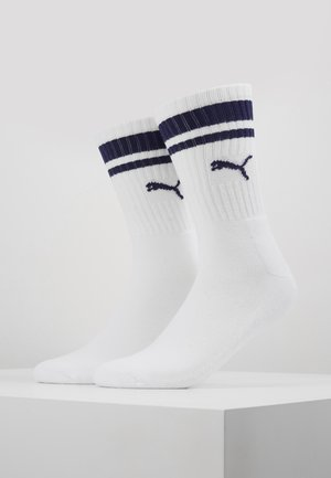 CREW HERITAGE STRIPE  2 PACK - Chaussettes - white / blue