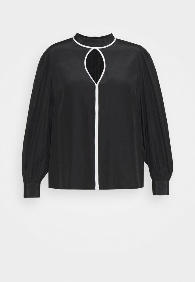 KEYHOLE - Blouse - black/white